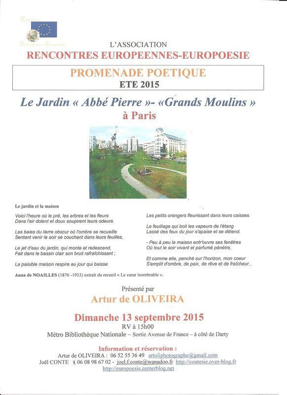 Dimanche 13 septembre 2015 jardin des grands moulins for Jardin septembre 2015