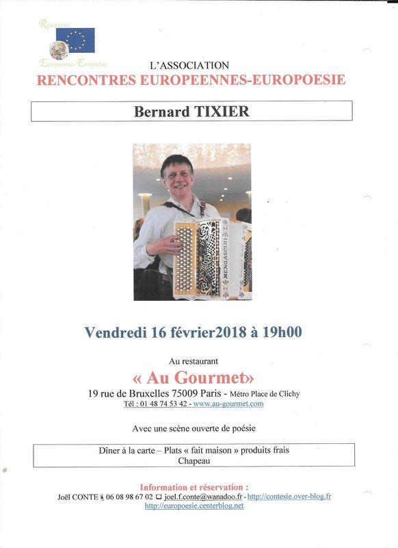 Vendredi 16 Février 2018 Accordéon Et Poésie